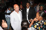 l to r: Pierre Sutton and Josh X and fans at The Josh X showcase sponsored by MusaEntertainment and held at SOB's on August 27, 2009 in New York City