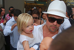 May 19, 2008 - Cannes, France - Actor BRAD PITT and daughter SHILOH JOLIE PITT shopping in cannes during the 61st Cannes Festival (Credit Image: Frederic Injimbert/ZUMAPRESS.com)