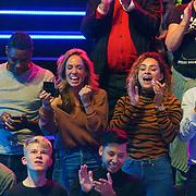 NLD/Amsterdam/20181107 - Opname Boxingstars 2018, 2e aflevering, Nienke Plas en Kimberly Maasdamme (R) partner van Juvat Westendorp