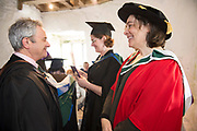 """18/04/2017 REPRO FREE:  <br /> PHD graduate  Elizabeth Matthews   at the 13th conferring ceremony, held in the Minstrels gallery the 16th century Newtown Castle at the heart of the BCA campus, exemplifies the continued success of the Burren's  alternative model of art education . <br /> The Irish and  international graduates included Elizabeth Matthews, conferred with  a PhD for her research on Utopian studies , and six international graduates whose work on display in the BCA gallery addressed the ultimate question, """"who am I called to be"""" In her address President of the college Mary Hawkes Greene referred to the unique place based educational  model  committed to  individual student centred  education accredited by NUIGalway , and how it effectively  embraces the often conflicting forces of the global and the local, the public and the private as well as the collective and the individual. <br /> .  Photo:Andrew Downes, xposure"""