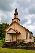 Olaa First Hawaiian Church, 1835, Kurtistown, Island of Hawaii