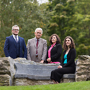 29.08. 2017.                                                   <br /> A new scholarship, the Roibeárd Thornton Memorial-Janssen Scholarship, was launched at the University of Limerick, named in memory of Dr Roibeárd Thornton, a graduate of the University. Dr Thornton, who had been working with Janssen Pharmaceuticals in Cork for over 4 years, had just returned to Limerick with his family when he was tragically killed in a car crash in January 2016.<br /> <br /> Pictured at the event were, Niall Healy, Limerick, John Phelan, Kilkenny, Scholarship recipient, Niamh Phelan, Kilkenny and Brid Phelan, Kilkenny.<br /> <br /> <br /> A special seat using rock from the family land of Dr Roibeárd Thornton, was commissioned by his UL science family and brought to campus as a permanent reminder of his gentle soul. It is positioned close to Plassey House overlooking a grass valley with the River Shannon in view. Picture: Alan Place<br /> <br /> <br /> For more information, contact:<br /> Sarah Hartnett, University of Limerick Foundation Tel: 086-3872863; Email: sarah.hartnett@ul.ie