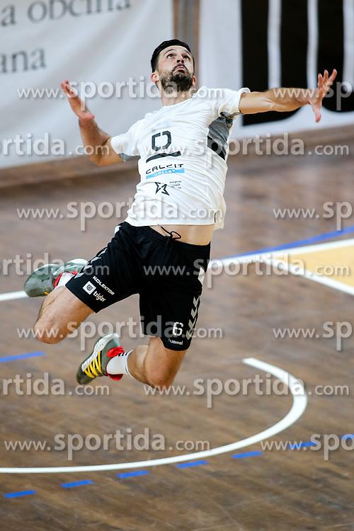 Mitja Gasparini of Calcit Kamnik during volleyball match between ACH Volley Ljubljana and Calcit Kamnik in Mevza League 2020/21, on October 17, 2020 in Hala Tivoli, Ljubljana, Slovenia. Photo by Matic Klansek Velej / Sportida