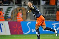 FOOTBALL - FRENCH CHAMPIONSHIP 2011/2012 - L1 - MONTPELLIER HERAULT SC v AJ AUXERRE - 06/08/2011 - PHOTO SYLVAIN THOMAS / DPPI - JOY YOUNES BELHANDA (MON) AFTER HIS GOAL
