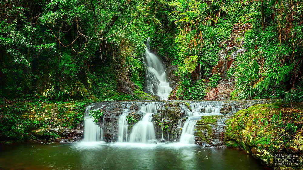 Elabana Falls, deep within the heart of Lamington NP. is captured in this high quality, high resolution photograph.<br /> <br /> Code: WAQS0001<br /> <br /> Limited Edition Print