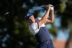February 28, 2019 - Palm Beach Gardens, Florida, U.S. - Rickie Fowler tees off on the 14th hole during the first round of the Honda Classic Thursday at PGA National Resort and Spa in Palm Beach Gardens, February 28, 2019. (Credit Image: © Allen Eyestone/The Palm Beach Post via ZUMA Wire)