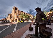 U.S.A., New Mexico. La Fonda on the Plaza hotel.