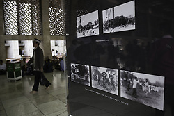 June 19, 2017 - Central Jakarta, Jakarta, Indonesia - Jakarta, Indonesia, 19 June 2017 : Istiqlal as the largest mosque in South East Asia have histroy exhibition of the beginning. The exhibition tell the story on how the mosque was buitl since Sukarno Era in 1955 and continue by Suharto. Nowadays the mosque becoming the most vistied mosque in south east asia both by Indonesian and foreigner. (Credit Image: © Donal Husni via ZUMA Wire)