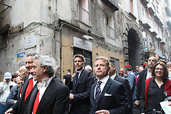 May 5, 2018 - Napoli, Campania/Napoli, Italy - Prince Emanuele Filiberto of Savoia during the procession of the bust and blood of San Gennaro.Procession of the bust of San Gennaro and the ampules containing the blood of the martyr in the streets of the historic center of Naples. (Credit Image: © Salvatore Esposito/Pacific Press via ZUMA Wire)