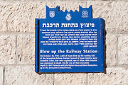 The German Colony in Jerusalem, Israel Founded by the German Templer movement who settled here and elsewhere in Israel in the late 19th century. The Old railway station
