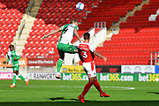 Shaun Hutchinson, Joe Mattock during the EFL Sky Bet Championship match between Rotherham United and Millwall at the AESSEAL New York Stadium, Rotherham, England on 19 September 2020.
