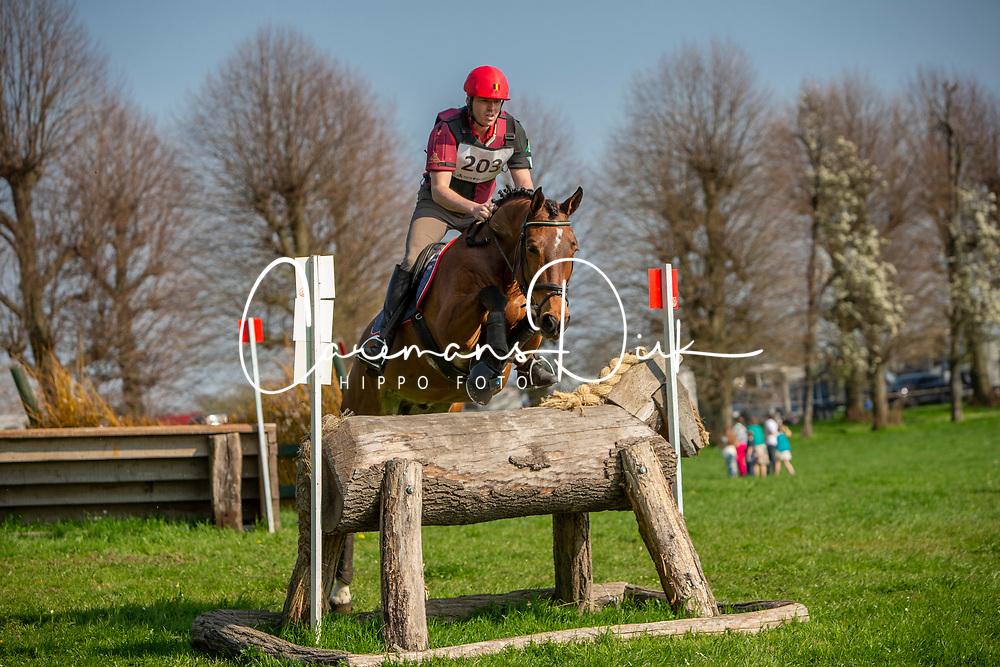 Hermans Bart, BEL, Gorki van de Pertjeshoeve<br /> Nationaal Kampioenschap Eventing LRV - Vechmaal 2019Gothenburg 2019<br /> © Hippo Foto - Dirk Caremans<br /> 07/04/2019