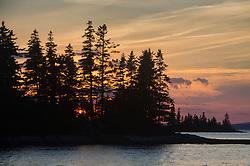 Sunset from Ram Island, Castine, Maine, US