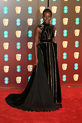 attends the EE British Academy Film Awards at the Royal Albert Hall in London, UK. 18 Feb 2018 Pictured: Lupita Nyong'o. Photo credit: Fred Duval / MEGA TheMegaAgency.com +1 888 505 6342