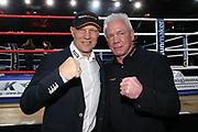 """Boxen: Blitz & Donner, Hamburg, 24.03.2018<br /> Sport1-Kommentatoren Graciano """"Rocky"""" Rocchigiano und Axel Schulz<br /> © Torsten Helmke"""