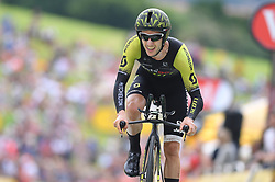 July 28, 2018 - Espelette, FRANCE - British Adam Yates of Mitchelton-Scott pictured in action during the 20th stage of the 105th edition of the Tour de France cycling race, a 31km individual time trial from Saint-Pee-sur-Nivelle to Espelette, France, Saturday 28 July 2018. This year's Tour de France takes place from July 7th to July 29th...BELGA PHOTO DAVID STOCKMAN (Credit Image: © David Stockman/Belga via ZUMA Press)