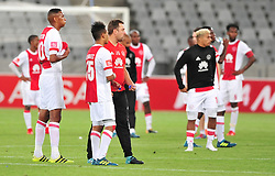 Cape Town 180109 Disappointed Ajax Cape Town players after losing to Mamelodi Sundowns in the PSL match at Cape Town Stadium. Even though Ajax were leading,sundowns came back strong to finish the game 2-1 with goals from Rocardo Nascimento and Sibusiso Vilakazi. Picture:Phando Jikelo/African News Agency(ANA)