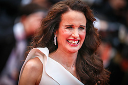 """Andie MacDowell attend the screening of """"Les Plus Belles Annees D'Une Vie"""" during the 72nd annual Cannes Film Festival on May 18, 2019 in Cannes, France. Photo by Shootpix/ABACAPRESS.COM"""