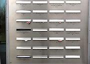 Nederland, Amsterdam, 19-2-2014In het Ito gebouw aan de zuidas zitten brievenbussen van de verschillende bedrijven die hier gevestigd zijn