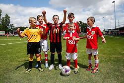 Community Trust mascots pose before the game - Mandatory byline: Rogan Thomson/JMP - 07966 386802 - 05/07/2015 - SPORT - Football - Bristol, England - Brislington Stadium - Bristol City v Keynsham Town & Brislington FC - Pre Season Community Match.