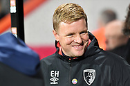 Eddie Howe AFC Bournemouth manager during the Premier League match between Bournemouth and Huddersfield Town at the Vitality Stadium, Bournemouth, England on 4 December 2018.