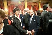 JACQUELINE DE RIBES; COUNT EDUARD DE RIBES;, Legion d'honneur awards. Elysee Palace, Presidence. Rue du Faubourg. 50 Rue de la Bienfaisance. Paris. 07 April 2010