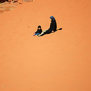 Wadi Rum desert offers some of the most astonishing landscape, like these sand dunes.
