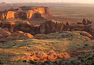 Sunrise, Hunts Mesa, Totem Pole, Monument Valley, Navajo Tribal Park, Arizona