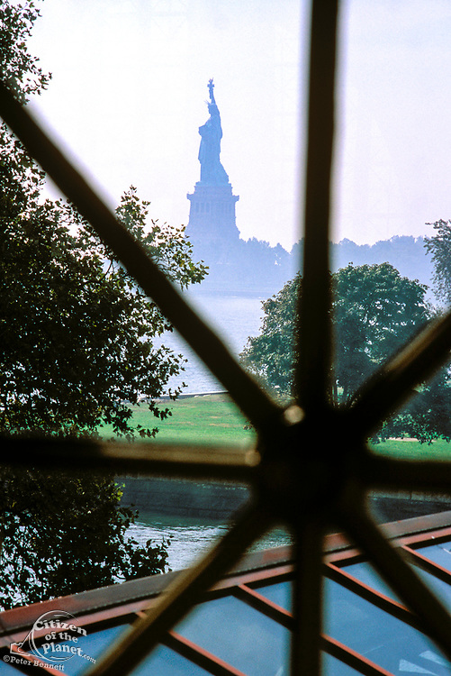 View of Statue of Liberty from Ellis Island Immigration Museum, New York