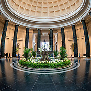 The dome of the main atrium in the National Gallery of Art in Washington DC.