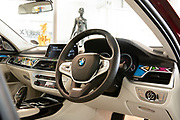 BMW shares the BMW 7 series individual decorated by artist Ester Mahlangu at the Melrose Gallery in Johannesburg to global media. Ester Mahlangu was in attendance. Image by Greg Beadle
