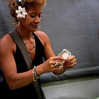 Oceania, South Pacific, French Polynesia, Tahiti. Papeete Market transaction.