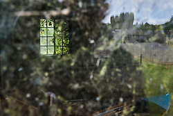 Reflections of Ashford Castle, built in 1228 and now a luxury resort, Cong, County Mayo, Ireland