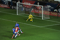Bristol City's Jay Emmanuel-Thomas shoots at goal. - Photo mandatory by-line: Alex James/JMP - Mobile: 07966 386802 - 29/01/2015 - SPORT - Football - Bristol - Ashton Gate - Bristol City v Gillingham - Johnstone Paint Trophy Southern area final