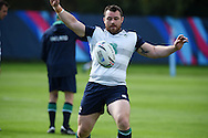 Cian Healy of Ireland in action during the Ireland rugby team training at Newport High School in Newport , South Wales on Friday 9th October 2015.the team are preparing for their next RWC match against France this Sunday.<br /> pic by  Andrew Orchard, Andrew Orchard sports photography.