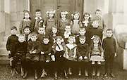 vintage formal group photo of little children