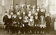 vintage formal group photo of little children