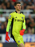 NEWCASTLE UPON TYNE, ENGLAND - SEPTEMBER 17: Illan Meslier of Leeds United during the Premier League match between Newcastle United and Leeds United at St. James Park on September 17, 2021 in Newcastle upon Tyne, England. (Photo by MB Media)