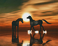 Horses in the sunset by the sea This painting easily brings the atmosphere of the sea to your home. This coastal scene can be printed in different sizes and on different materials. Both on canvas, wood, metal or framed so it certainly fits into your interior. –<br /> -<br /> BUY THIS PRINT AT<br /> <br /> FINE ART AMERICA / PIXELS<br /> ENGLISH<br /> https://janke.pixels.com/featured/horse-at-sunset-7-jan-keteleer.html<br /> <br /> <br /> WADM / OH MY PRINTS<br /> DUTCH / FRENCH / GERMAN<br /> https://www.werkaandemuur.nl/nl/shopwerk/Paarden-in-de-zonsondergang-aan-zee/778312/132?mediumId=15&size=70x55<br /> –<br /> -