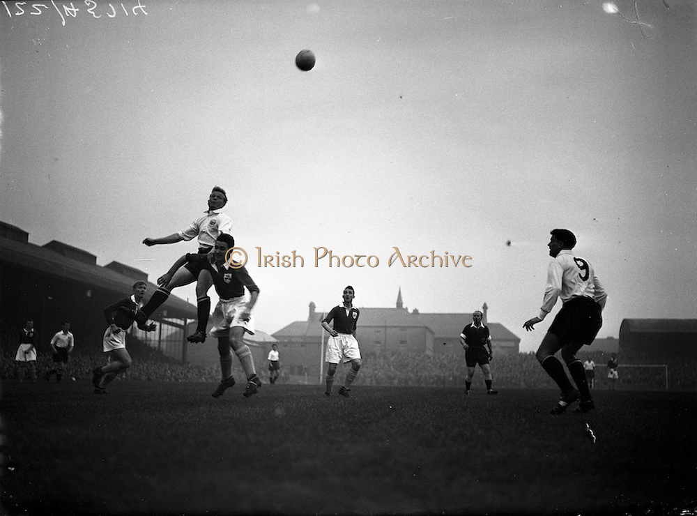 19/09/1956<br /> 09/19/1956 <br /> 19 August 1956<br /> League of Ireland v English League at Dalymount Park, Dublin.
