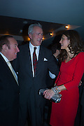 ANDREW NEIL; JEREMY KING; OLIVIA COLE, Spectator Life - 3rd birthday party. Belgraves Hotel, 20 Chesham Place, London, SW1X 8HQ, 31 March 2015
