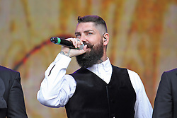 © Licensed to London News Pictures. 13/07/2014, UK. Shane Lynch. Boyzone, play British Summer Time at Hyde Park, London UK, 13 July 2014. Photo credit : Brett D. Cove/Piqtured/LNP