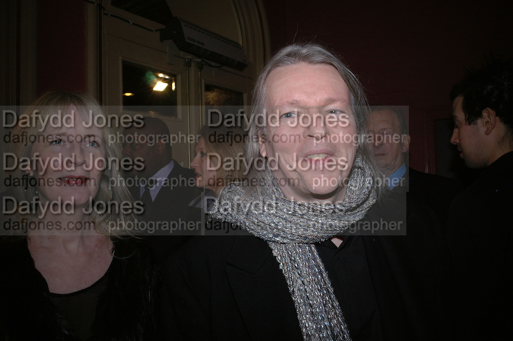 Christopher Hampton, Opening night of Embers, Duke of York's theatre. St. Martin's Lane. London. 1 March 2006. ONE TIME USE ONLY - DO NOT ARCHIVE  © Copyright Photograph by Dafydd Jones 66 Stockwell Park Rd. London SW9 0DA Tel 020 7733 0108 www.dafjones.com