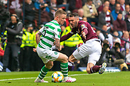 Jonny Hayes of Celtic turns Michael Smith of Hearts during the William Hill Scottish Cup Final match between Heart of Midlothian and Celtic at Hampden Park, Glasgow, United Kingdom on 25 May 2019.