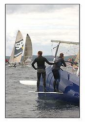 The 2004 Skiff Nationals at Largs held by the SSI.<br /> <br /> Largs Boys swum by Alan Bunion.<br /> <br /> Marc Turner / PFM Pictures