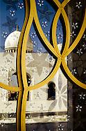 Reflection at Sheikh Zayed Grand Mosque, Abu Dhabi, UAE.