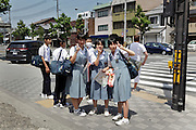 Japanese teenager school kids