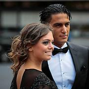 NLD/Hilversum/20130902 - Gala Voetballer van het Jaar 2013, scheidsrechter Serdar Gözbüyük en partner Tugba