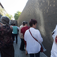 People visit the newly inaugurated Memorial of Unity that is decorated with names of Hungarian towns (many of them belonging to neighbouring countries since the Treaty of Trianon) engraved onto the walls on the national holiday celebrating the foundation of the Hungarian State in Budapest, Hungary  on Aug. 20, 2020. ATTILA VOLGYI