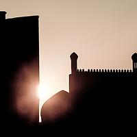 Bukhara, Uzbekistan 24 March 2012<br /> Sunset at Bukhara.<br /> PHOTO: EZEQUIEL SCAGNETTI